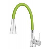 Baterie bucătărie cu pipă flexibilă verde Ferro Zumba II BZA42G