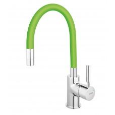 Baterie bucătărie cu pipă flexibilă verde Ferro Zumba BZA4G
