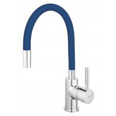 Baterie bucătărie cu pipă flexibilă albastra Ferro Zumba BZA4L