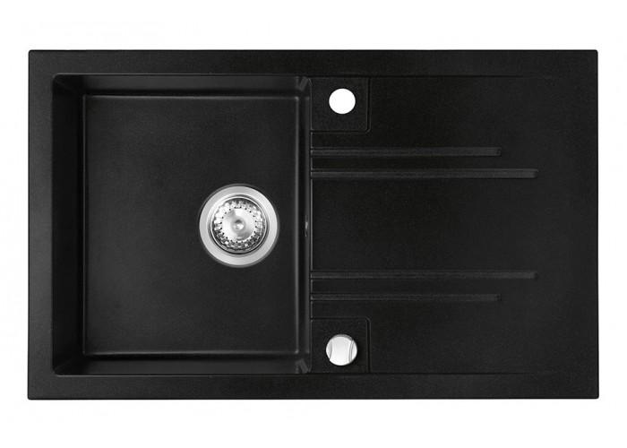 Chiuvetă bucătărie simplă 78x48 cm, grafit Mezzo II